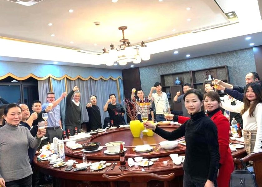 Peter_Humphries and Ryan_Clark join CEL_Ningbo to celebrate CNY and manufacturing in China
