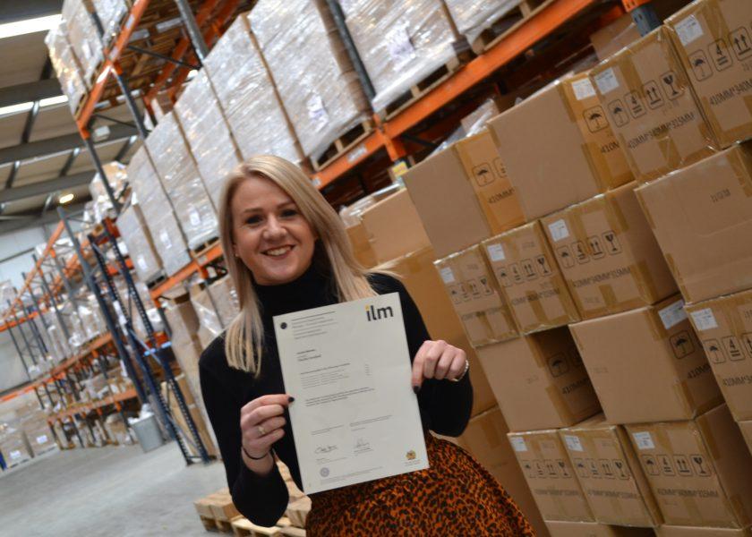 Claudia holds ILM certificate